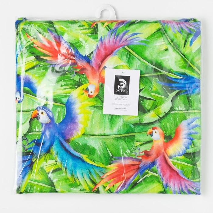 Подушка на стул Этель «Попугай», 32 × 32 см, репс, 130 г/м², 100%-ный хлопок