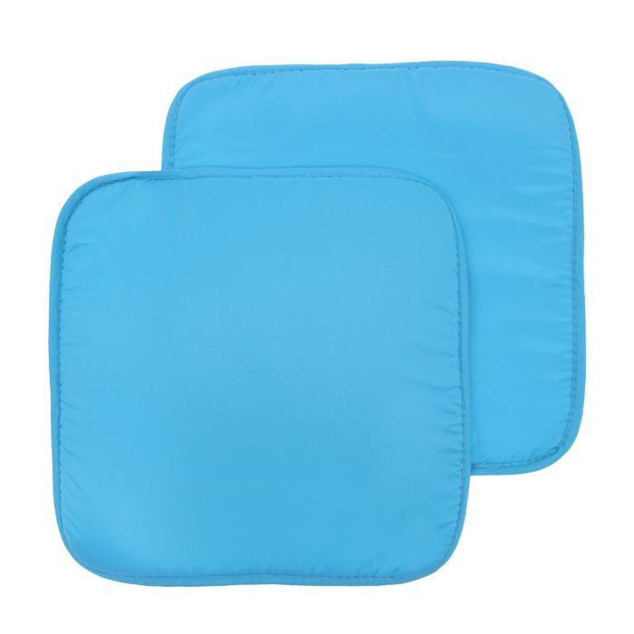Набор подушек на стул (2 шт.), размер 34х34 ± 2 см, цвет голубой