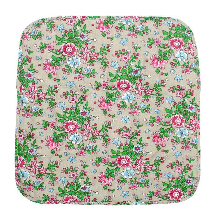 Чехол на стул с завязками 35*38  Полевые цветы бязь 125г/м, хл100%