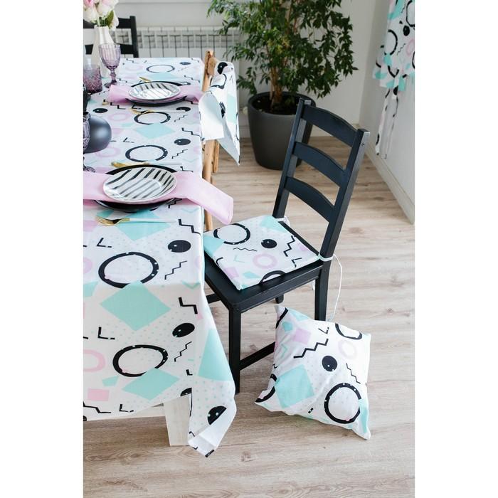 Подушка на стул Этель «Квадраты», 32×32см, репс, пл. 130 г/м², 100% хлопок