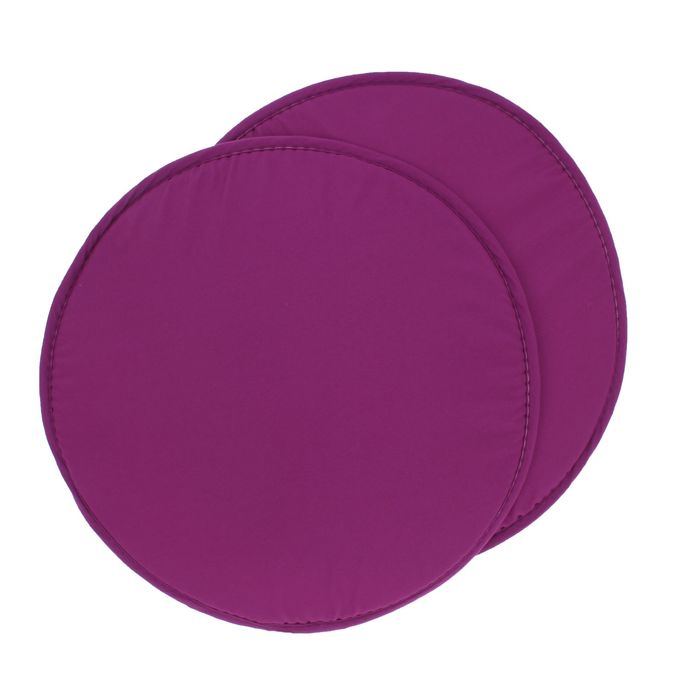 Набор подушек на стул - 2 шт., круглая, диаметр 34 см +- 2 см, цвет Фиолетовый