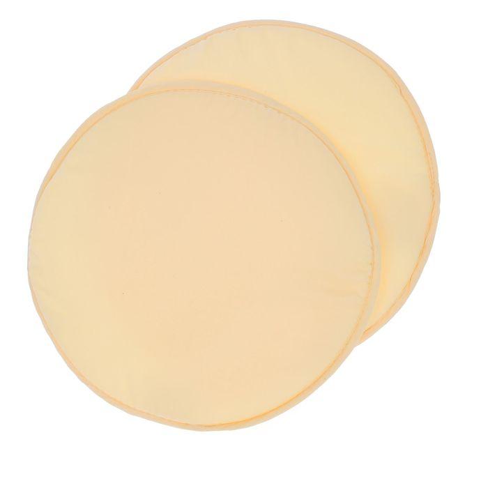 Набор круглых подушек на стул (2 шт.), диаметр 34 ± 2 см, цвет жёлтый