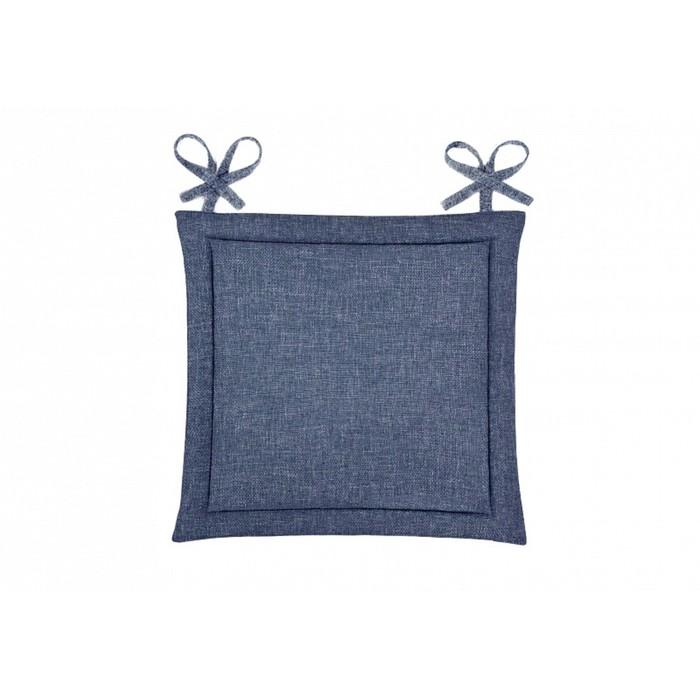 Подушка на стул, размер 40 × 40 см, рогожка, цвет индиго