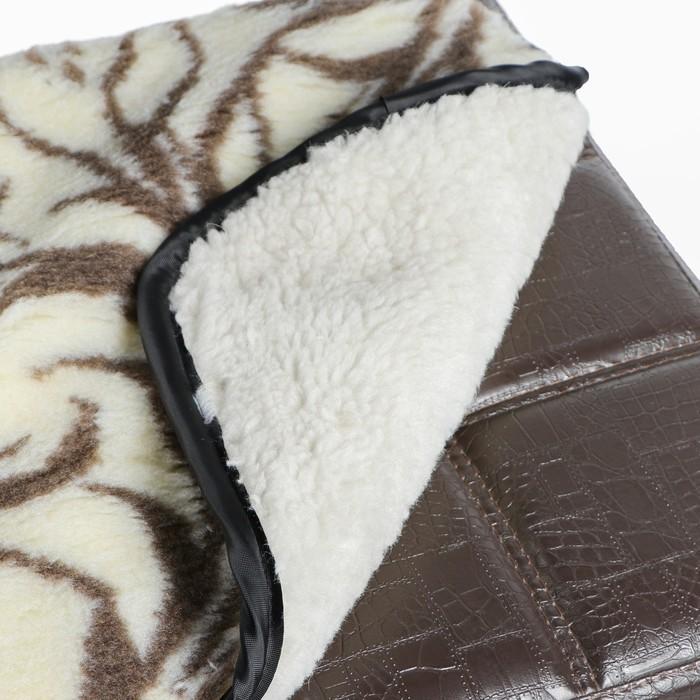 Накидка на сиденье двухсторонняя, тип 3, овчина 65%, 40 х 40 см