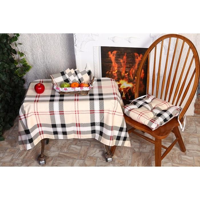 Подушка для стула АДЕЛЬ «Лондон», цвет бордо, размер 35х35 см, полисатин