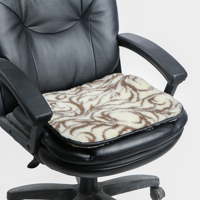 Накидка на сиденье двухсторонняя, тип 3, овчина 65%, 50 х 50 см