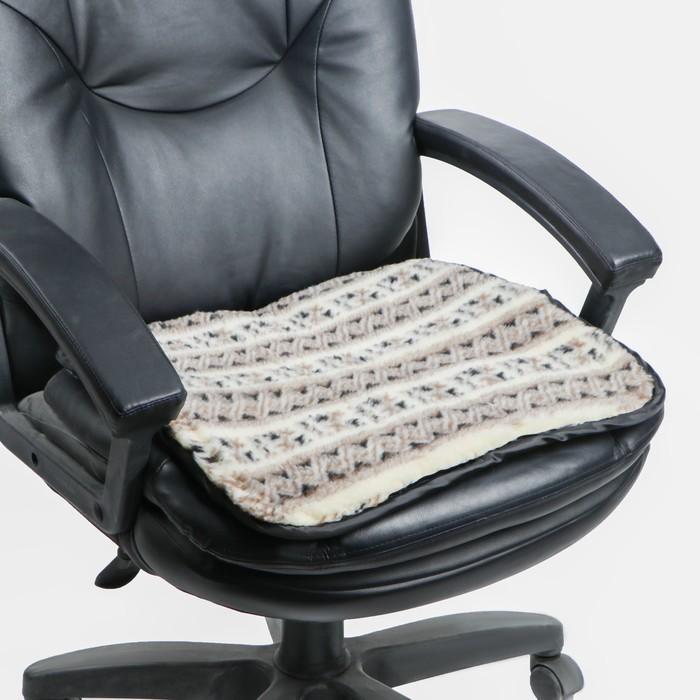 Накидка на сиденье двухсторонняя, тип 2, овчина 65%, 50 х 50 см