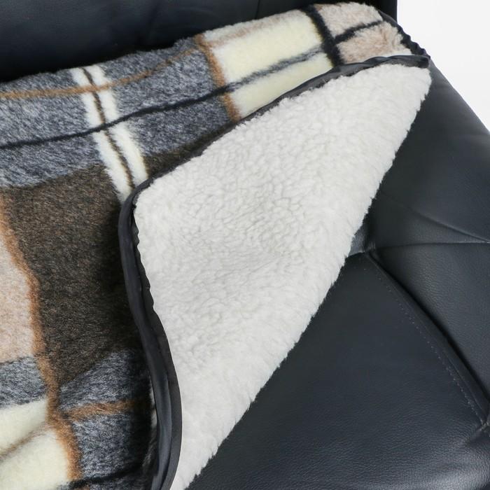 Накидка на сиденье двухсторонняя, тип 1, овчина 65%, 50 х 50 см