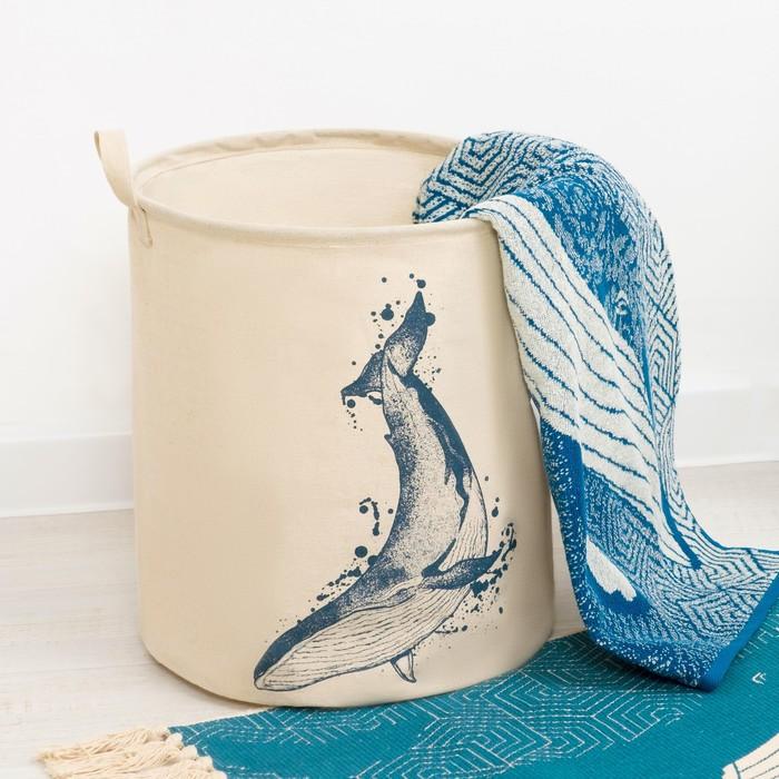 Корзинка текстильная «Кит», 35 × 40 см