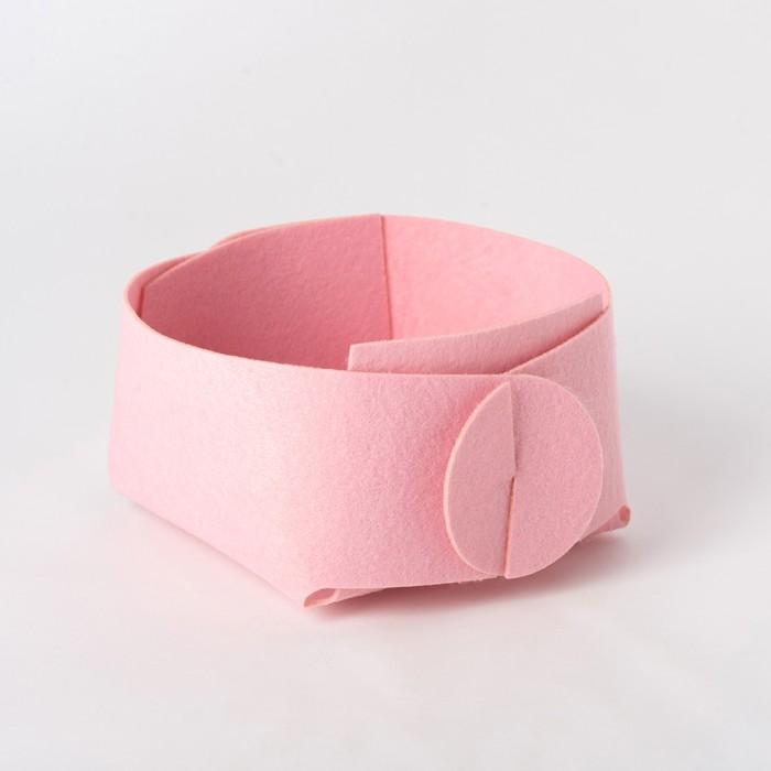 Корзина текстильная для хранения, розовая 15х10 см