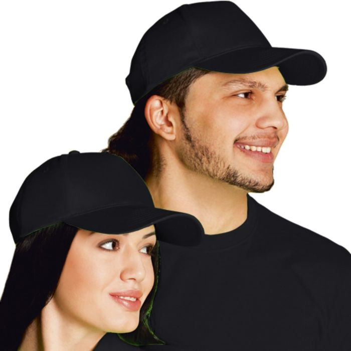 Бейсболка StanClassic, one size, цвет чёрный 150 г/м