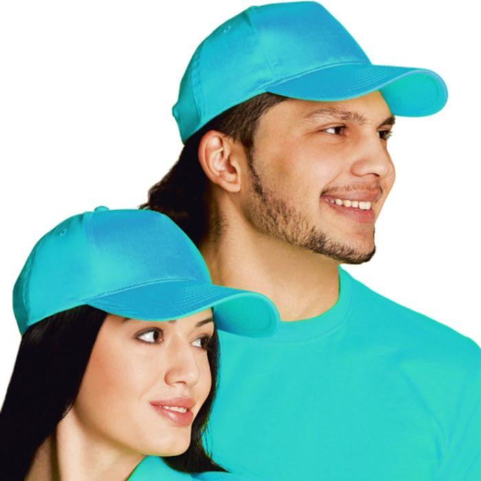 Бейсболка StanClassic, one size, цвет бирюзовый 150 г/м