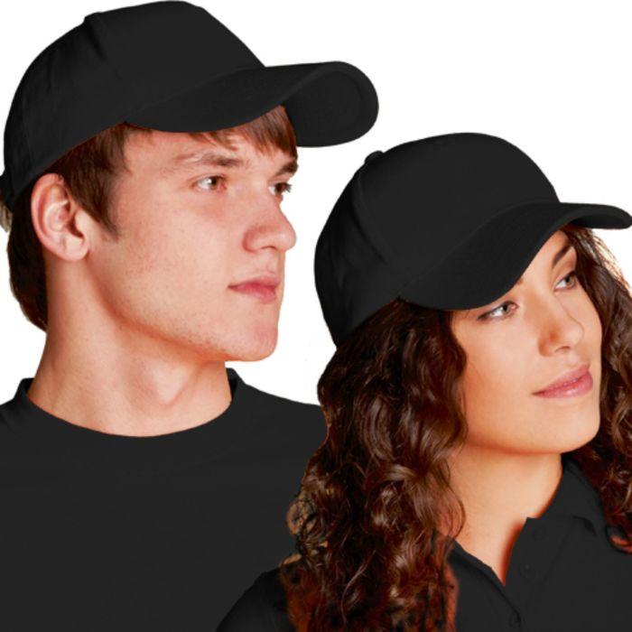 Бейсболка StanComfort, one size, цвет чёрный 200 г/м
