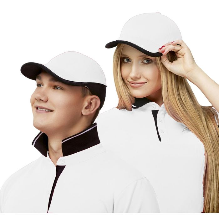 Бейсболка StanTwoСolors, one size, цвет белый 200 г/м