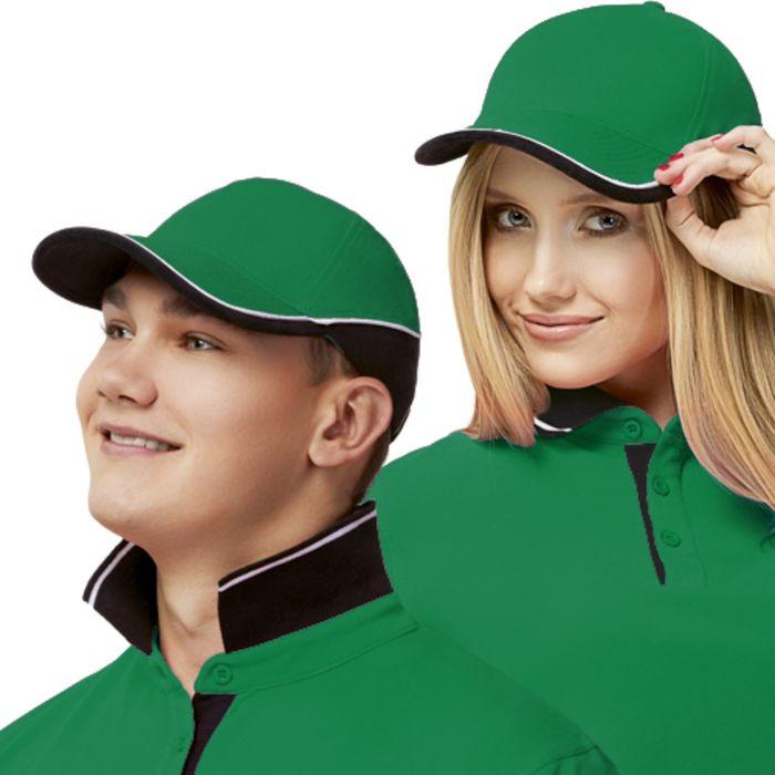 Бейсболка StanTwoСolors, one size, цвет зелёный 200 г/м