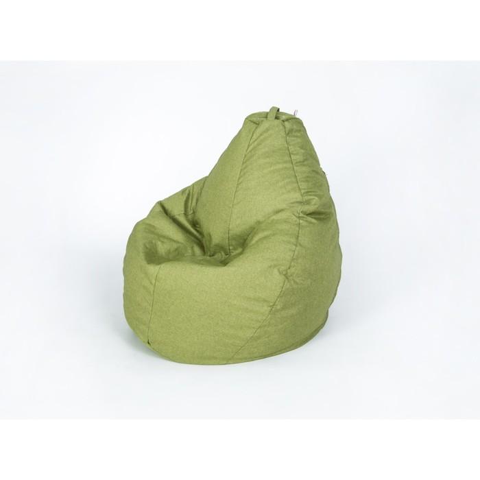 """Кресло-мешок """"Груша"""" большая, ширина 90 см, высота 135 см, оливковый, рогожка"""