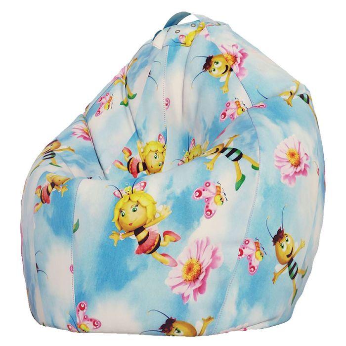 Кресло-мешок Стандарт, ткань поплин, принт медовая фея