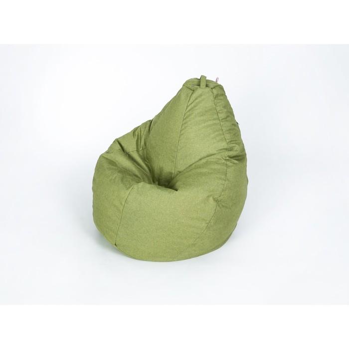 """Кресло-мешок """"Груша"""", малая, ширина 60 см, высота 85 см, цвет оливковый, рогожка"""