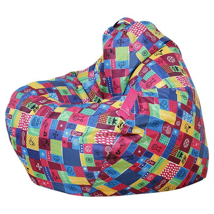 Кресло-мешок Малыш S d50/h80 цв ЛОСКУТКИ борддовый нейлон 100% п/э