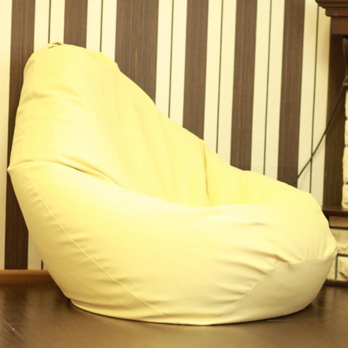 Кресло-мешок «Кремовая кожа»