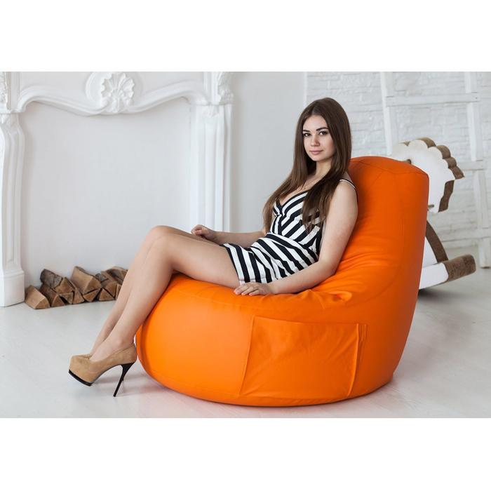 Кресло-мешок Comfort Orange, экокожа