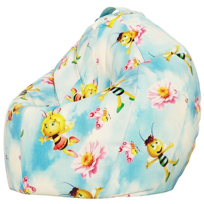 Кресло-мешок XXL, ткань поплин, принт медовая фея
