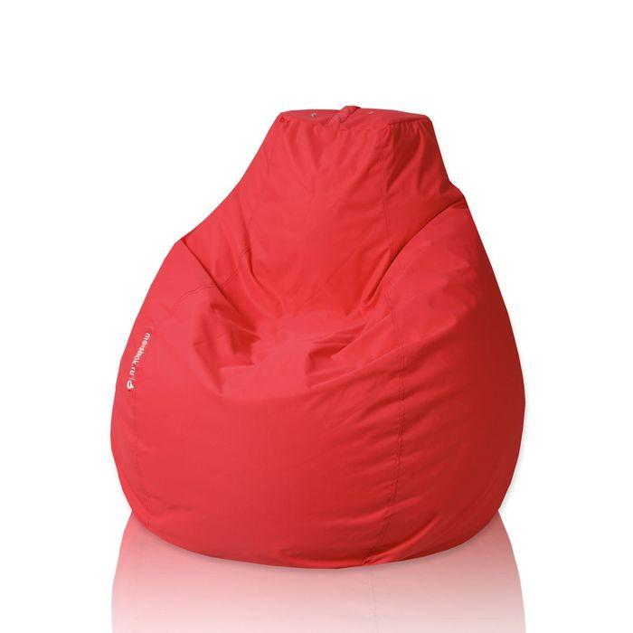 """Кресло-мешок """"Пятигранный"""", диаметр 82 см, высота 110 см, цвет красный File"""