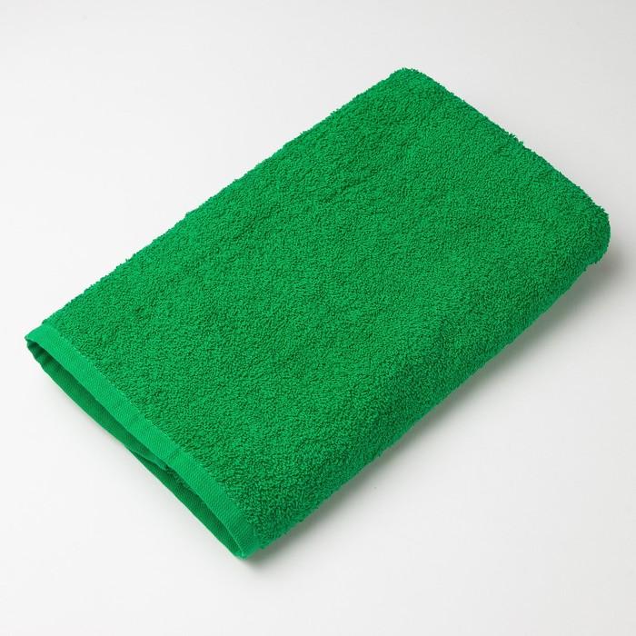 """Полотенце махровое """"Экономь и Я"""" 30*60 см зелёное яблоко, 100% хлопок, 340 г/м2"""