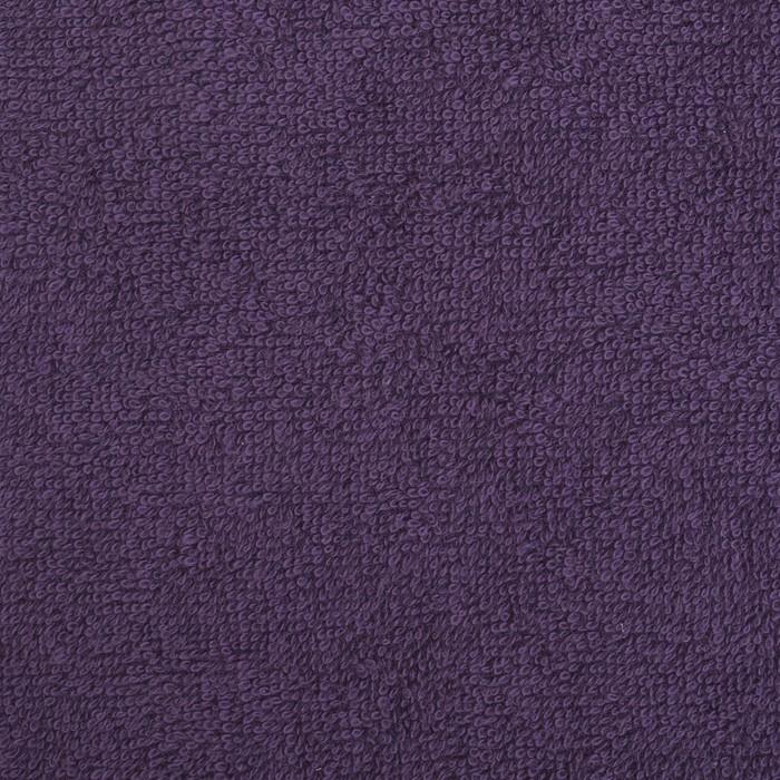 """Полотенце махровое """"Экономь и Я"""" 50х90 см, фиолетовый 100% хлопок, 340 г/м²"""