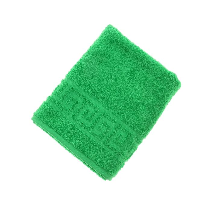 Полотенце махровое однотонное Антей цв клас.зеленый 50*90см 100% хлопок 430 гр/м2