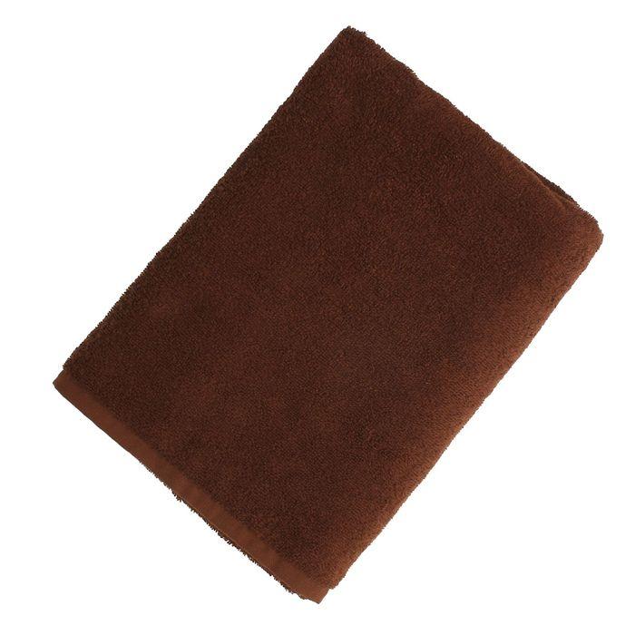 """Полотенце махровое """"Экономь и Я"""" 70*130 см шоколад, 100% хлопок, 340 г/м2"""
