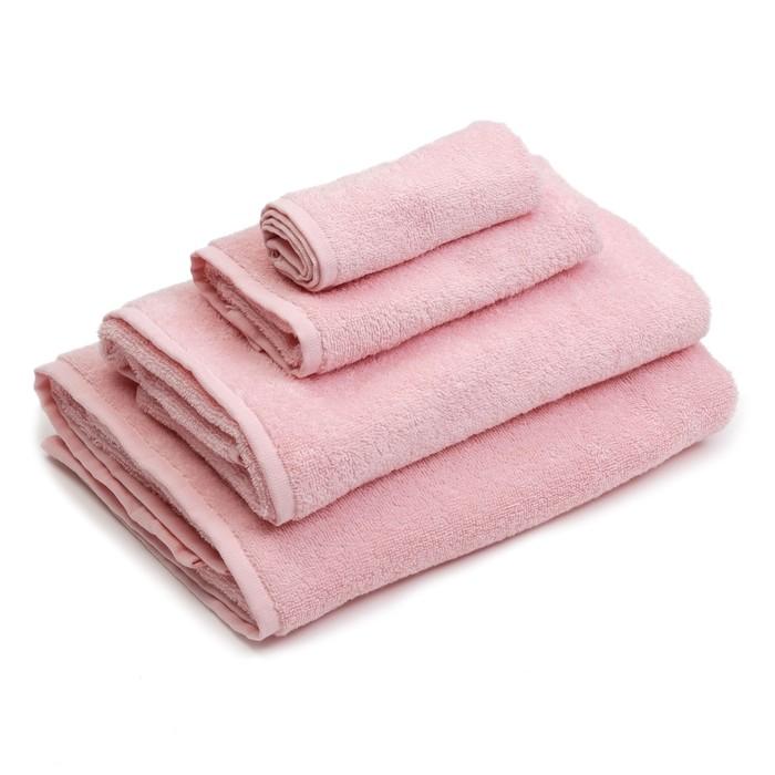 """Полотенце махровое """"Экономь и Я"""" 70х130 см, розовый100% хлопок, 340 г/м²"""