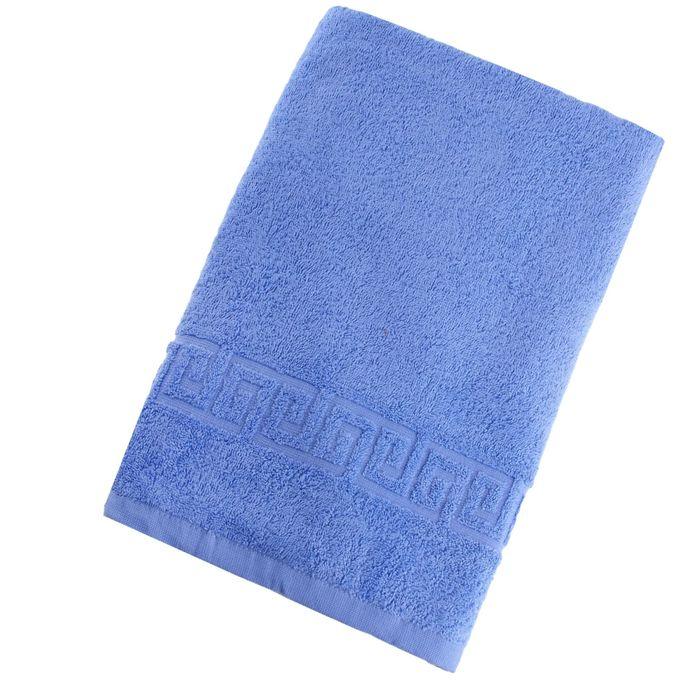 Полотенце махровое однотонное Антей цв голубое 100*180 см 100% хлопок 430 гр/м2