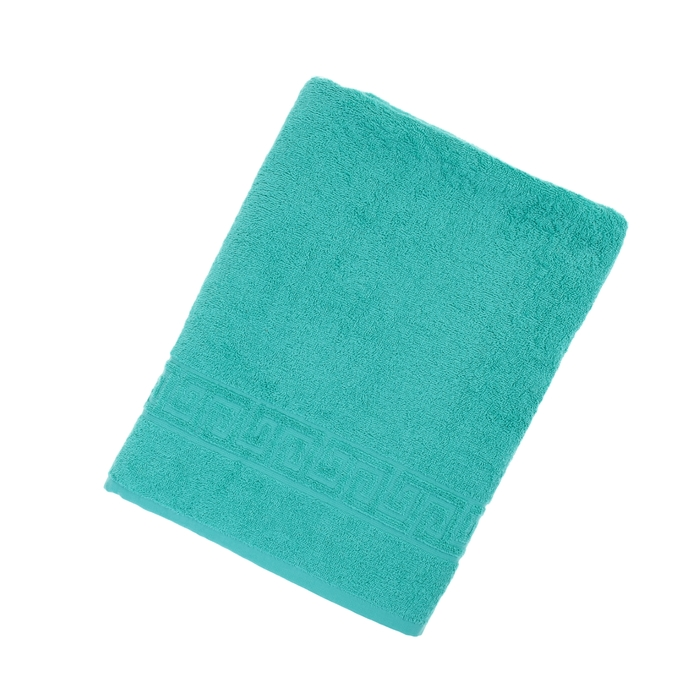 Полотенце махровое однотонное Антей 100х180 см, изумруд, 100% хлопок, 430 гр/м2