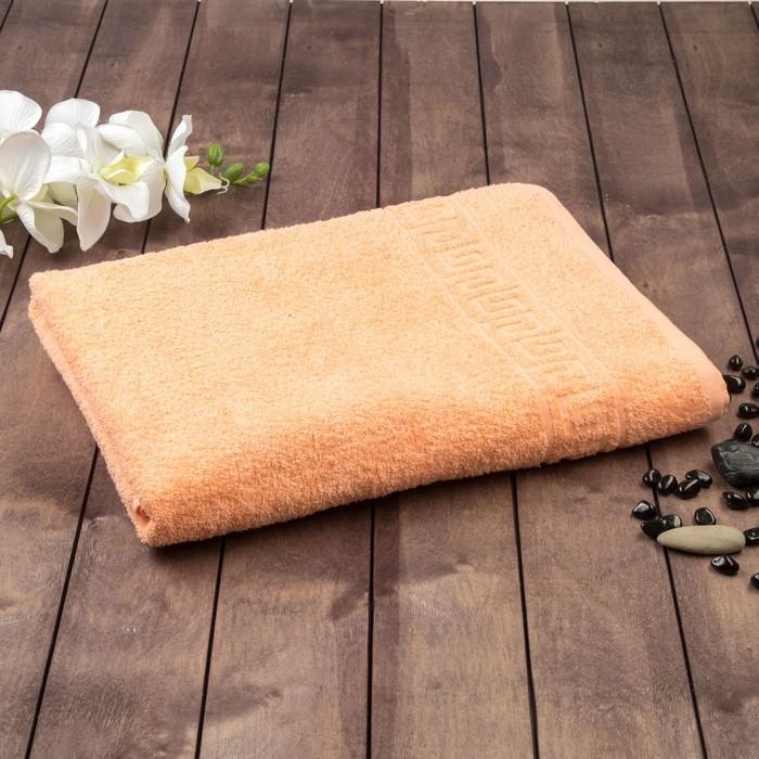 Полотенце махровое однотонное Антей цв персиковый 40*70см 100% хлопок 430 гр/м2