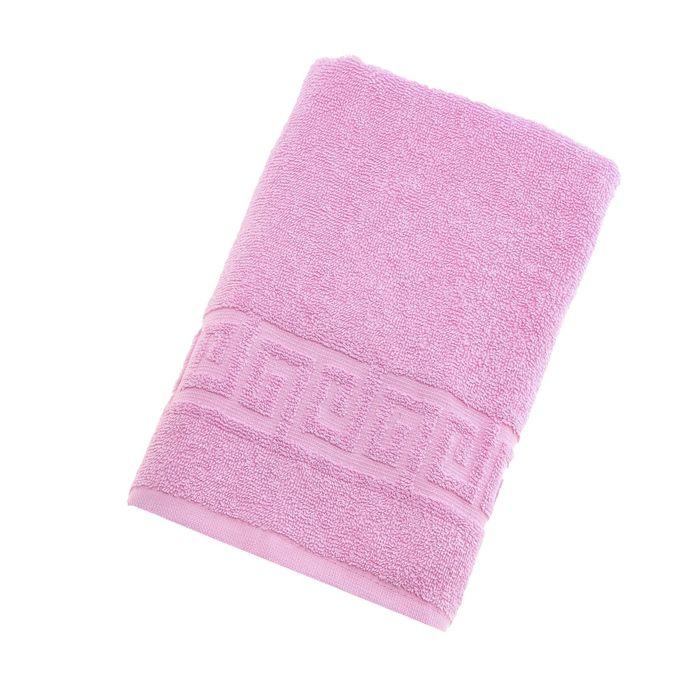 Полотенце махровое однотонное Антей цв розовый 50*90см 100% хлопок 430 гр/м2