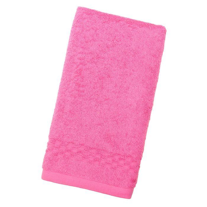 Полотенце Collorista однотонное, цвет светло-розовый, размер 50х90 см +/- 3 см, 400 гр/м2