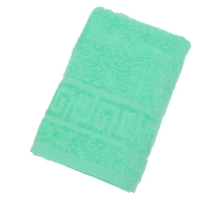 Полотенце махровое однотонное Антей цв молодая зелень 50*90см 100% хлопок 430 гр/м2