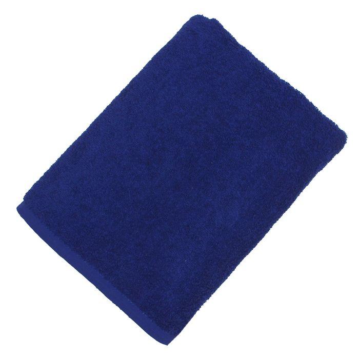 """Полотенце махровое """"Экономь и Я"""" 50*90 см синий, 100% хлопок, 340 г/м2"""