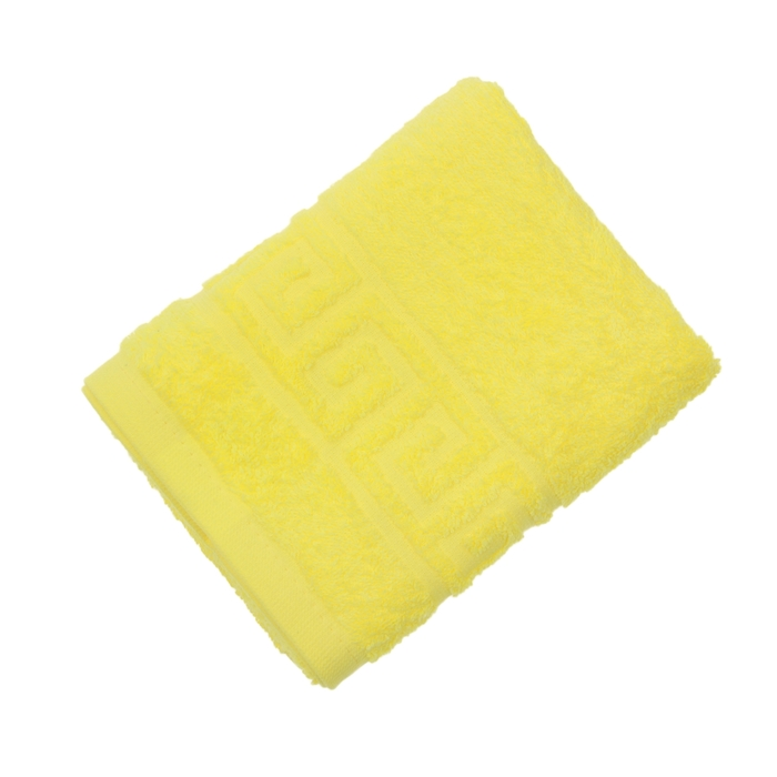 Полотенце махровое однотонное Антей цв лимон 40*70см 100% хлопок 430 гр/м2