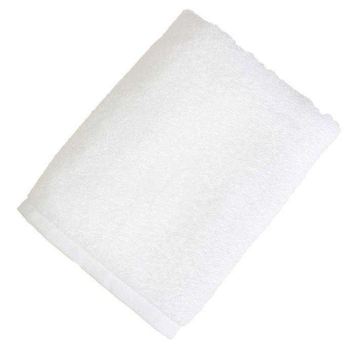 """Полотенце махровое """"Экономь и Я"""" 50*90 см белый, 100% хлопок, 340 г/м2"""