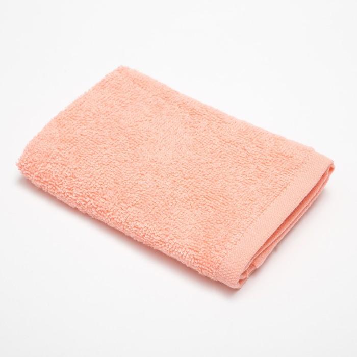 Полотенце махровое «Экономь и Я» 30×30 см темно - персиковый 100% хлопок, 340 г/м²