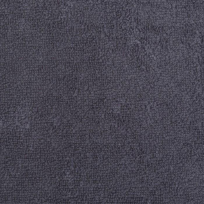 """Полотенце махровое """"Экономь и Я"""" 30х30 см серый 100% хлопок, 340 г/м2"""