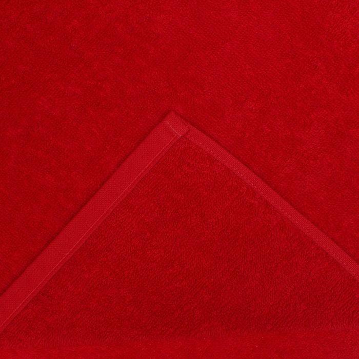 """Полотенце махровое """"Экономь и Я"""" 30*60 см бордо, 100% хлопок, 340 г/м2"""