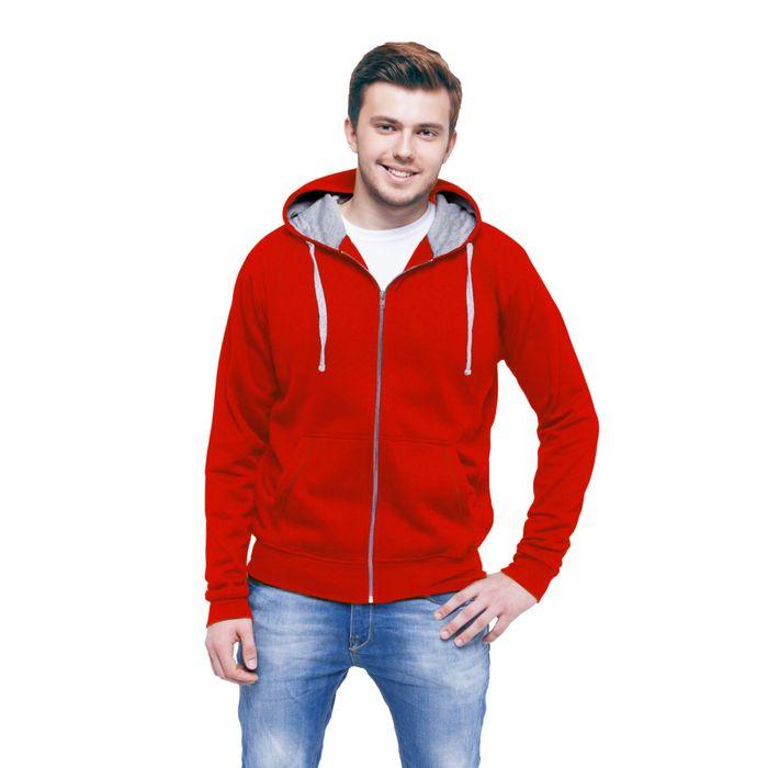 Толстовка мужская StanCool, размер 48, цвет красный 260 г/м