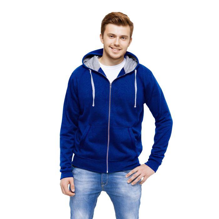 Толстовка мужская StanCool, размер 46, цвет синий 260 г/м