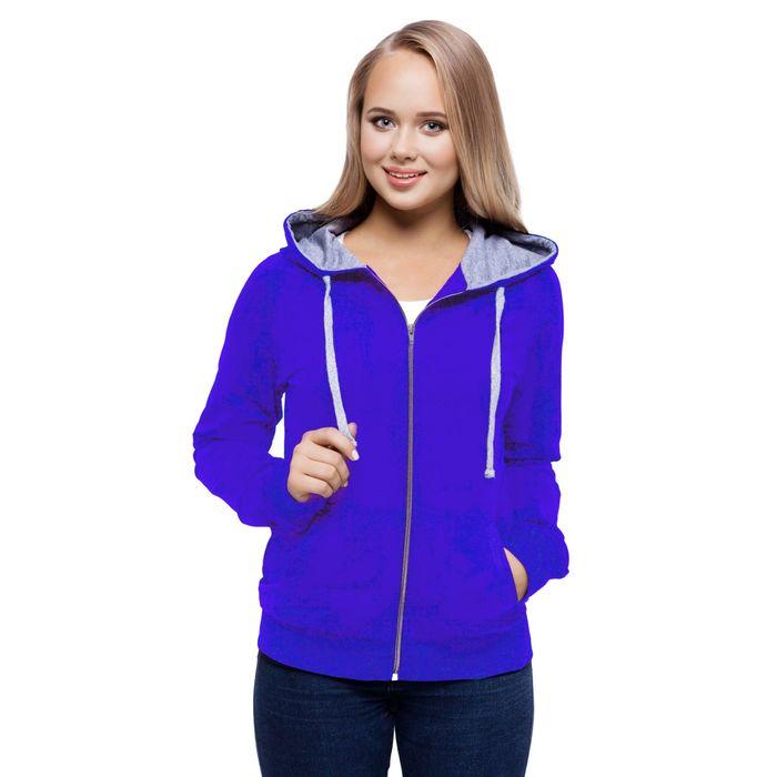 Толстовка женская StanCool, размер 46, цвет синий 260 г/м