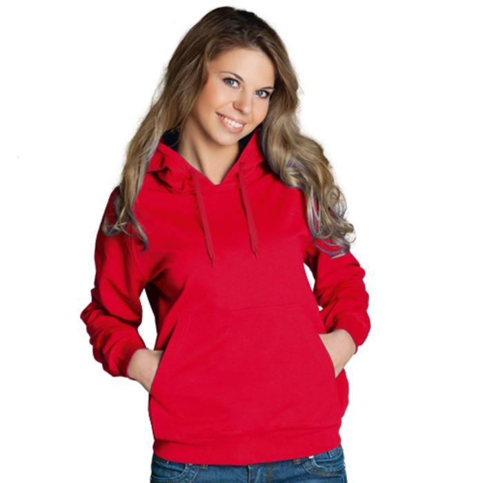 Толстовка женская StanFreedom, размер 42, цвет красный 280 г/м