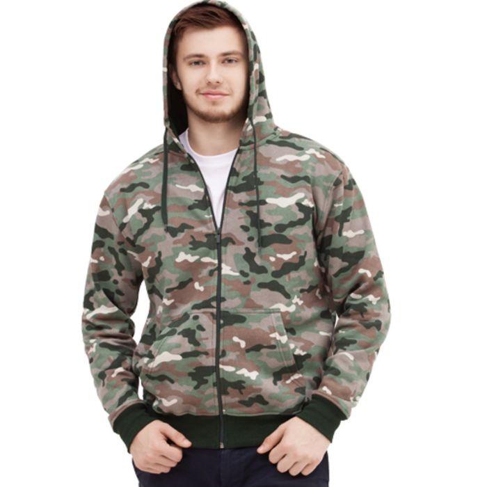 Толстовка мужская StanStyle, размер 50, цвет камуфляж 280 г/м