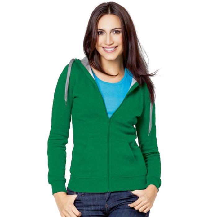 Толстовка женская StanStyle, размер 46, цвет зелёный-серый меланж 280 г/м